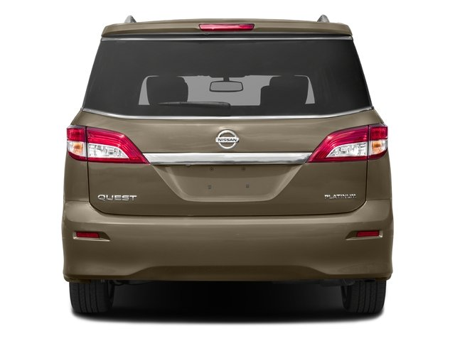 2016 Nissan Quest Prices and Values Wagon 5D Platinum V6 rear view