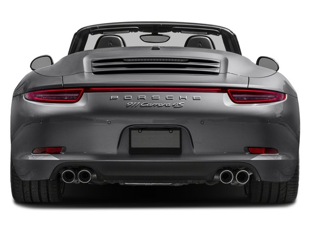2016 Porsche 911 Prices and Values Cabriolet 2D 4 Black Edition AWD H6 rear view