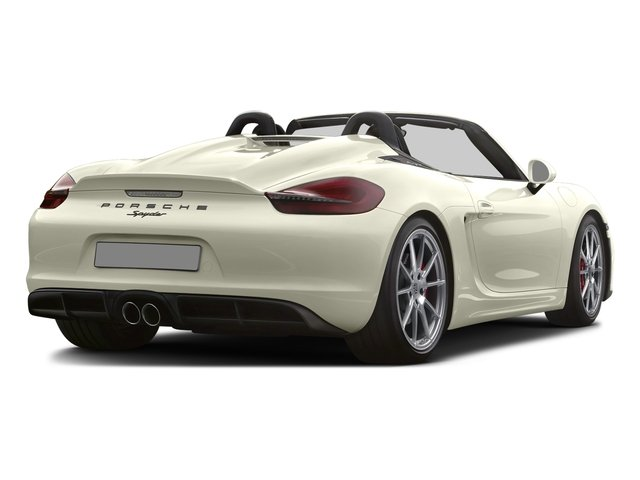 2016 Porsche Boxster Prices and Values Roadster 2D Spyder H6 side rear view