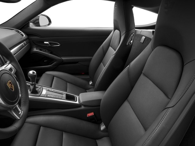 2016 Porsche Cayman Prices and Values Coupe 2D Black Edition H6 front seat interior