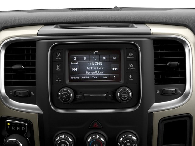 2016 Ram Truck 1500 Prices and Values Quad Cab Express HFE V5 T-Diesel stereo system
