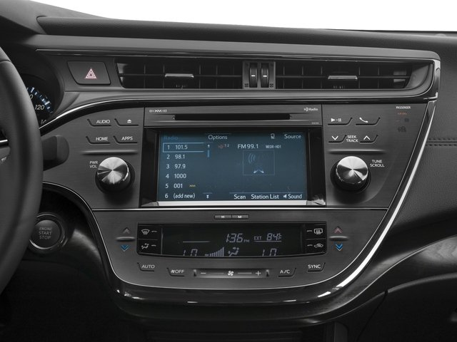2016 Toyota Avalon Prices and Values Sedan 4D XLE V6 stereo system