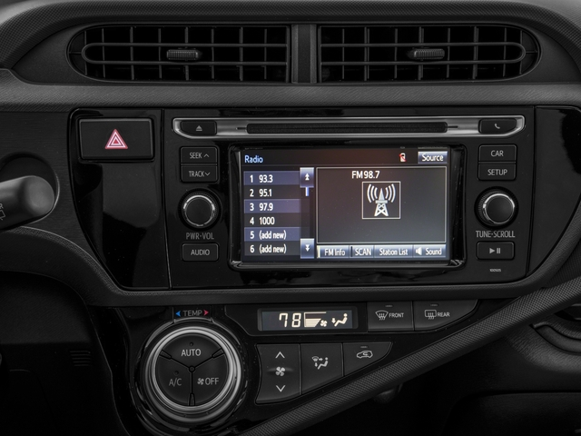 2016 Toyota Prius c Prices and Values Liftback 5D c I4 Hybrid stereo system