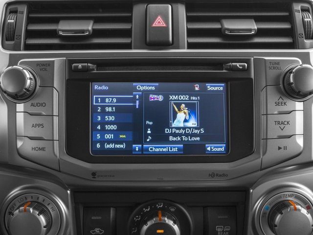 2016 Toyota 4Runner Prices and Values Utility 4D SR5 4WD V6 stereo system