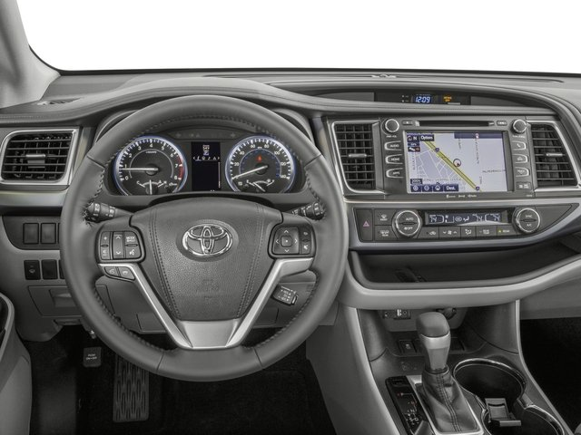 2016 Toyota Highlander Prices and Values Utility 4D XLE 4WD V6 driver's dashboard