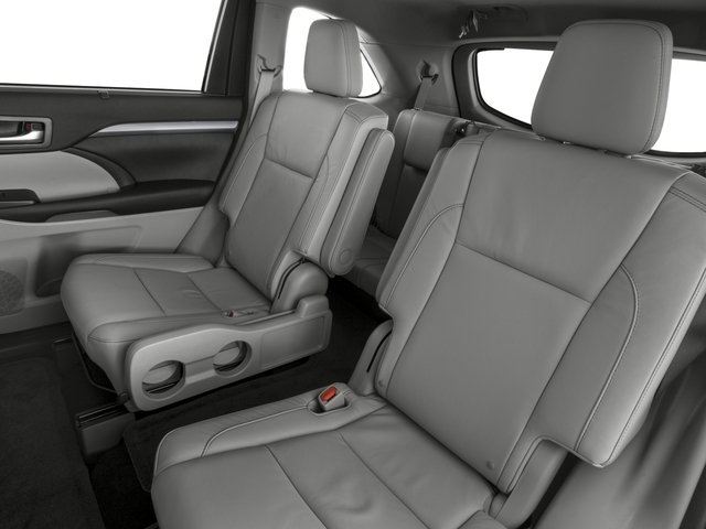 2016 Toyota Highlander Prices and Values Utility 4D XLE 4WD V6 backseat interior