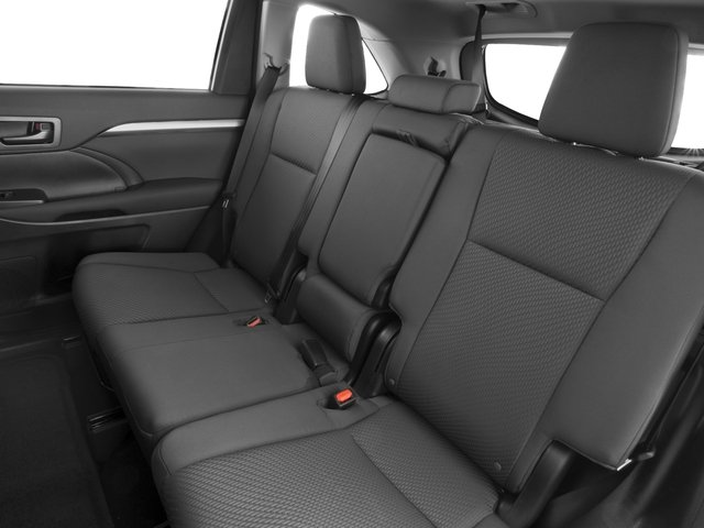 2016 Toyota Highlander Prices and Values Utility 4D LE 2WD I4 backseat interior