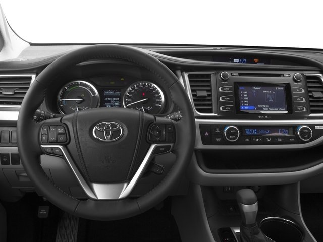 2016 Toyota Highlander Hybrid Prices and Values Utility 4D Limited 4WD V6 Hybrid driver's dashboard