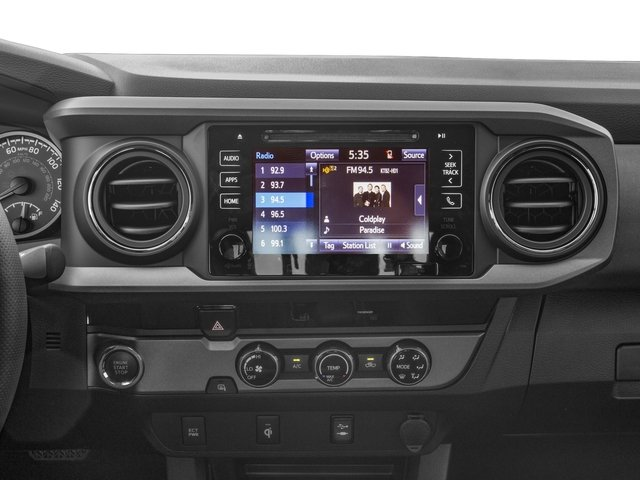 2016 Toyota Tacoma Prices and Values TRD Sport Extended Cab 2WD V6 stereo system