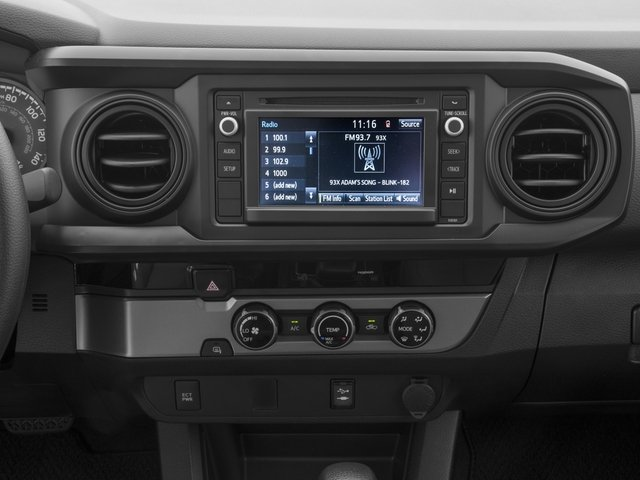 2016 Toyota Tacoma Pictures Tacoma SR Crew Cab 4WD V6 photos stereo system