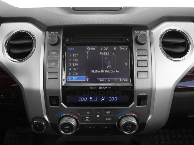 2016 Toyota Tundra 2WD Truck Prices and Values Limited CrewMax 2WD stereo system