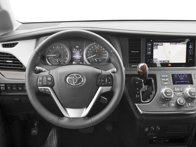 2016 Toyota Sienna Prices and Values Wagon 5D Limited AWD V6 driver's dashboard