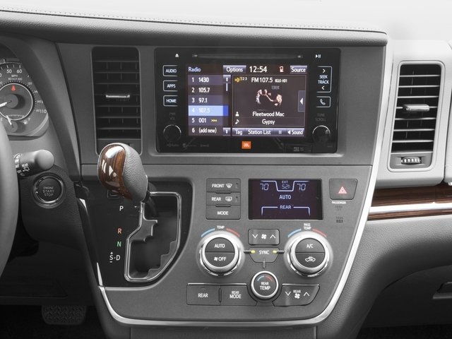 2016 Toyota Sienna Prices and Values Wagon 5D Limited AWD V6 stereo system