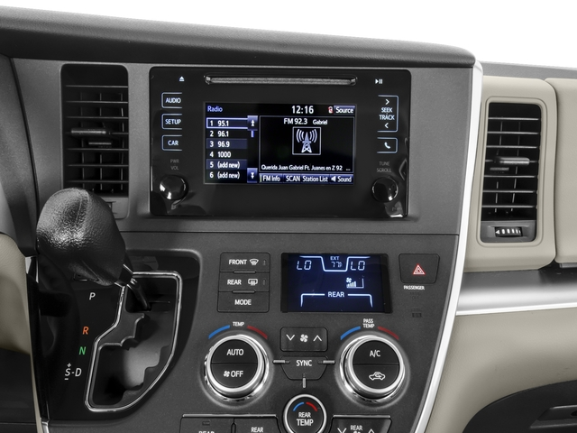 2016 Toyota Sienna Pictures Sienna Wagon 5D L V6 photos stereo system