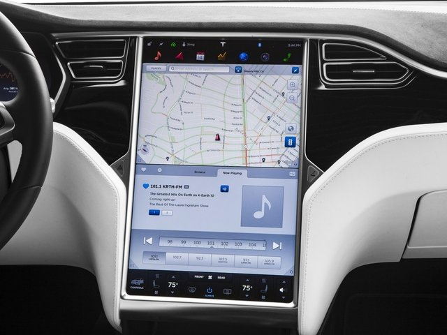 2016 Tesla Motors Model X Pictures Model X Utility 4D Performance AWD photos navigation system