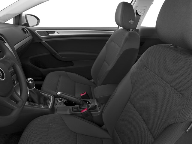 2016 Volkswagen Golf Prices and Values Hatchback 2D I4 Turbo front seat interior