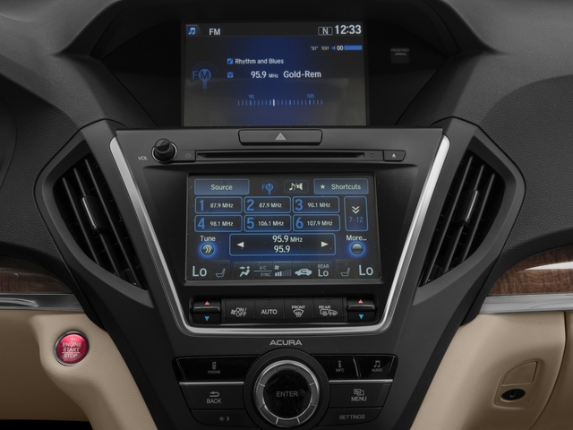 2017 Acura MDX Base Price FWD Pricing stereo system
