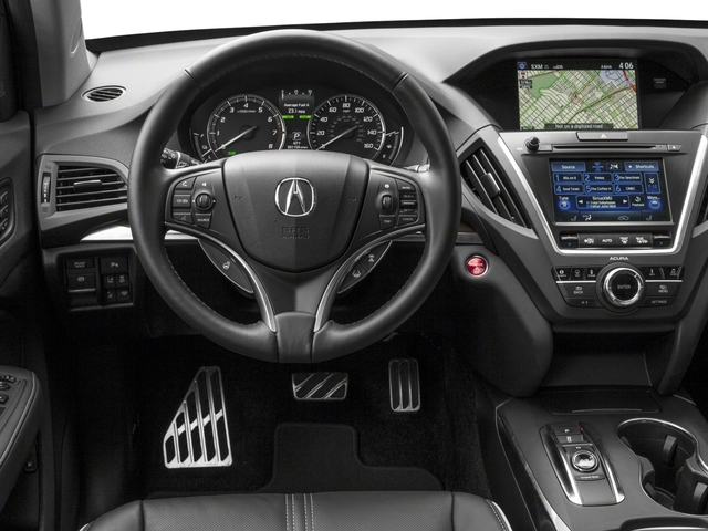 2017 Acura MDX Base Price SH-AWD Sport Hybrid w/Advance Pkg Pricing driver's dashboard