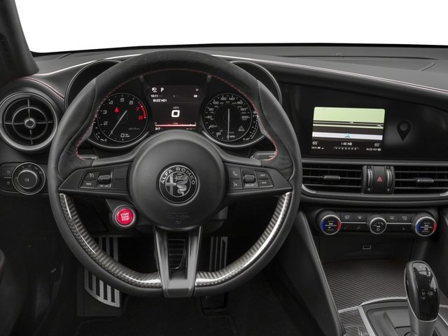 2017 Alfa Romeo Giulia Quadrifoglio Prices and Values Sedan 4D Quadrifoglio driver's dashboard
