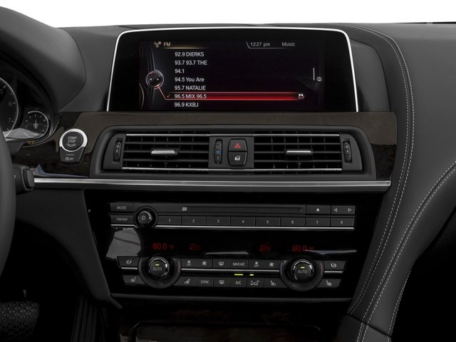 2017 BMW 6 Series Prices and Values Convertible 2D 640i I6 stereo system