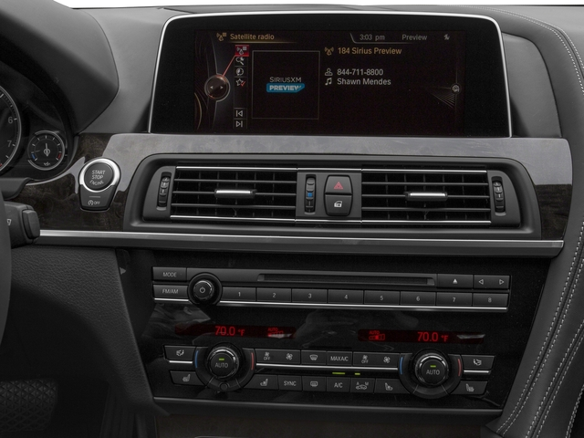 2017 BMW 6 Series Prices and Values Sedan 4D 640xi AWD I6 stereo system
