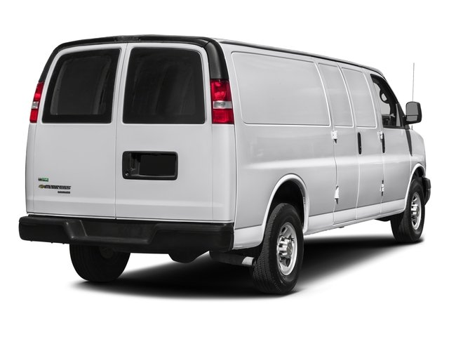 2017 Chevrolet Express Cargo Van Pictures Express Cargo Van RWD 3500 155 photos side rear view