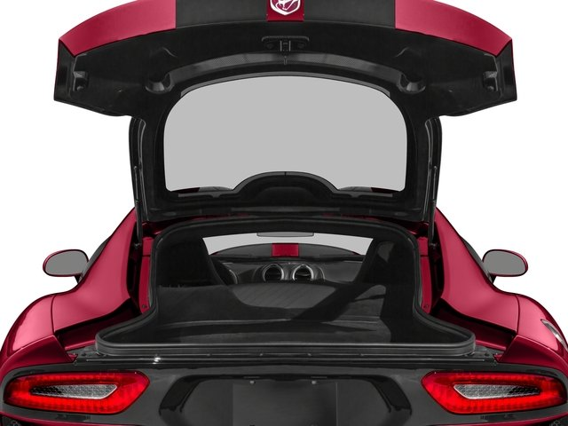 2017 Dodge Viper Pictures Viper 2 Door Coupe photos open trunk