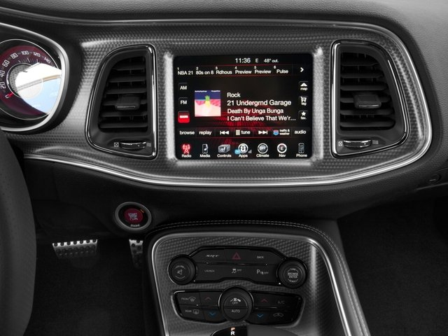 2017 Dodge Challenger Prices and Values Coupe 2D SRT Hellcat V8 Supercharged stereo system
