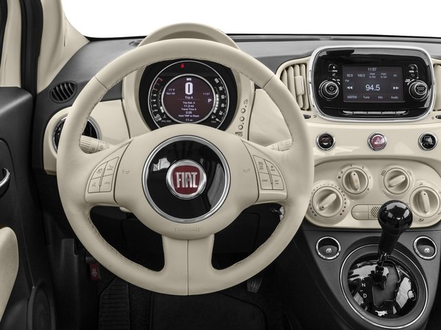2017 FIAT 500 Base Price Lounge Hatch Pricing driver's dashboard