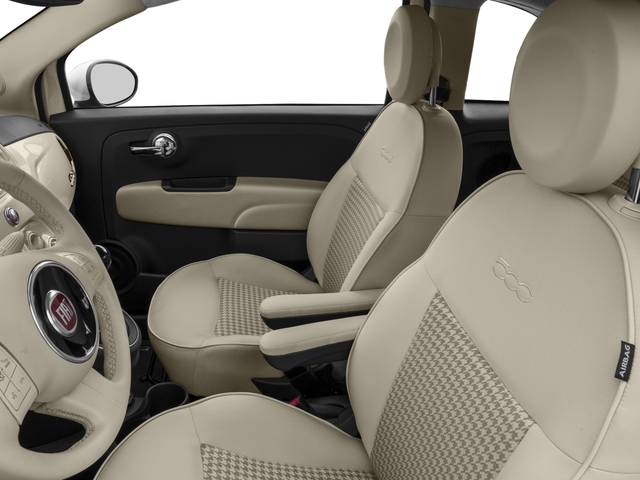 2017 FIAT 500 Base Price Lounge Hatch Pricing front seat interior
