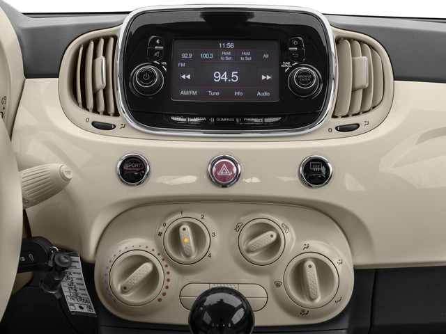 2017 FIAT 500 Base Price Lounge Hatch Pricing stereo system