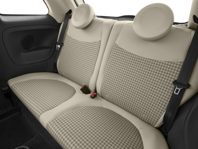 2017 FIAT 500 Base Price Lounge Hatch Pricing backseat interior