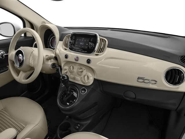 2017 FIAT 500 Base Price Lounge Hatch Pricing passenger's dashboard