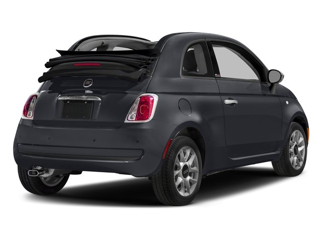 2017 FIAT 500c Base Price Lounge Cabrio Pricing side rear view