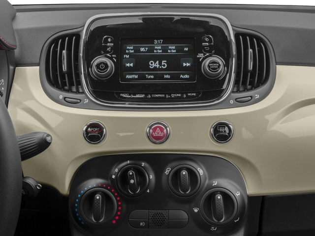2017 FIAT 500 Abarth Base Price Cabrio Pricing stereo system