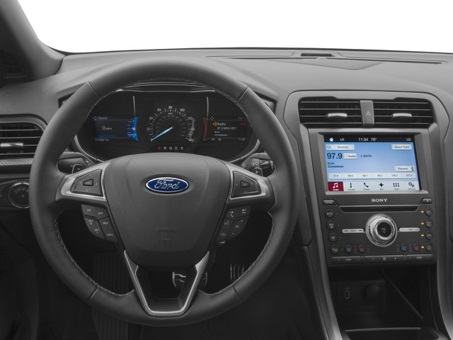 2017 Ford Fusion Pictures Fusion Sedan 4D Sport EcoBoost V4 Turbo photos driver's dashboard