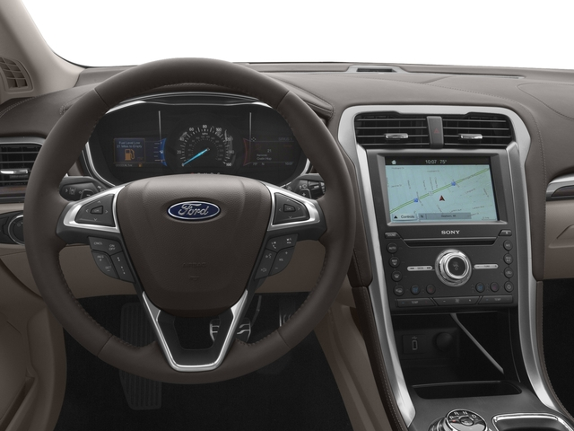 2017 Ford Fusion Pictures Fusion Sedan 4D Platinum AWD I4 Turbo photos driver's dashboard