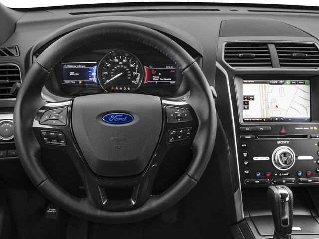 2017 Ford Explorer Prices and Values Utility 4D Sport 4WD V6 driver's dashboard