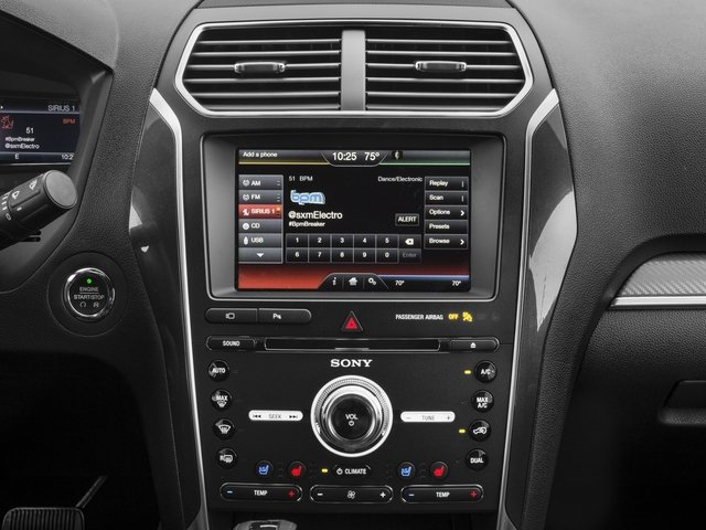 2017 Ford Explorer Prices and Values Utility 4D Sport 4WD V6 stereo system