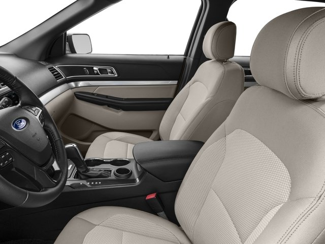 2017 Ford Explorer Prices and Values Utility 4D XLT 2WD V6 front seat interior