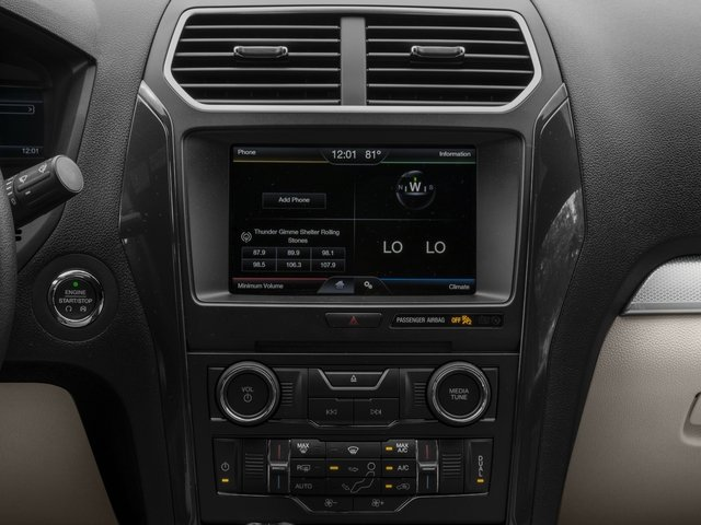 2017 Ford Explorer Prices and Values Utility 4D XLT 2WD V6 stereo system