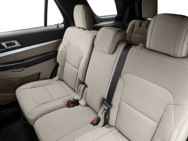 2017 Ford Explorer Prices and Values Utility 4D XLT 2WD V6 backseat interior