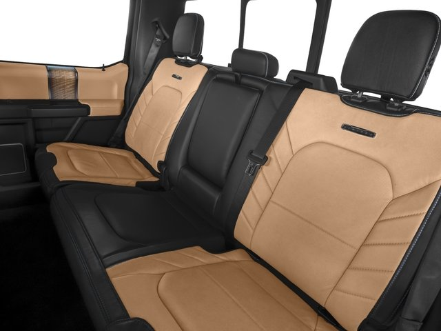 2017 Ford F-150 Prices and Values Crew Cab Limited EcoBoost 4WD backseat interior