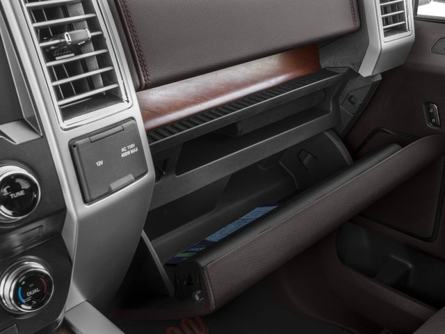 2017 Ford F-150 Prices and Values Crew Cab King Ranch 2WD glove box