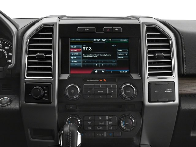 2017 Ford F-150 Prices and Values Supercab Lariat 4WD stereo system