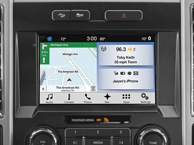 2017 Ford F-150 Prices and Values Crew Cab Lariat 4WD navigation system