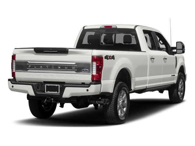 2017 Ford Super Duty F-350 SRW Prices and Values Crew Cab Platinum 4WD side rear view