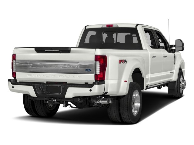 2017 Ford Super Duty F-450 DRW Prices and Values Crew Cab Platinum 4WD T-Diesel side rear view