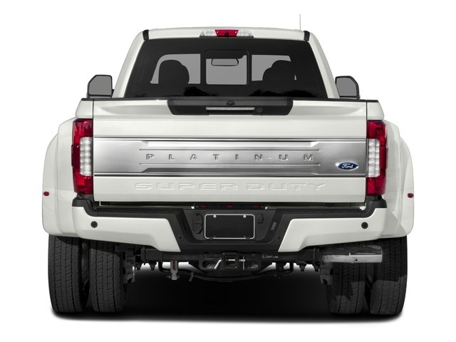 2017 Ford Super Duty F-450 DRW Prices and Values Crew Cab Platinum 4WD T-Diesel rear view