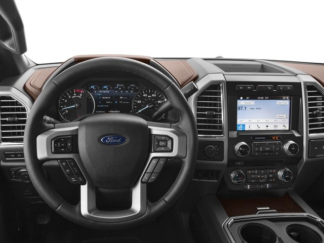 2017 Ford Super Duty F-450 DRW Prices and Values Crew Cab Platinum 4WD T-Diesel driver's dashboard